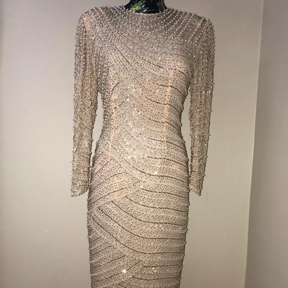 b5bff431 Night Line Dresses   Vintage Nite Line Sequins Dress Size 10   Poshmark